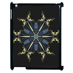 Mandala Butterfly Concentration Apple Ipad 2 Case (black) by Celenk