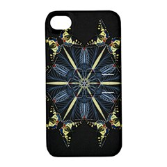 Mandala Butterfly Concentration Apple Iphone 4/4s Hardshell Case With Stand by Celenk