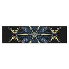 Mandala Butterfly Concentration Satin Scarf (oblong) by Celenk