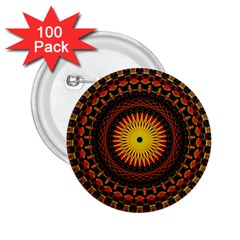 Mandala Psychedelic Neon 2 25  Buttons (100 Pack)  by Celenk