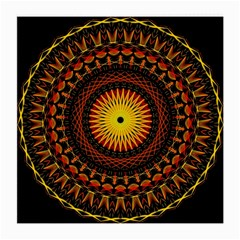 Mandala Psychedelic Neon Medium Glasses Cloth by Celenk