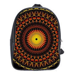 Mandala Psychedelic Neon School Bag (large) by Celenk