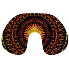 Mandala Psychedelic Neon Travel Neck Pillows by Celenk