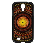Mandala Psychedelic Neon Samsung Galaxy S4 I9500/ I9505 Case (Black) Front