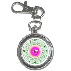 Flower Abstract Floral Key Chain Watches by Celenk