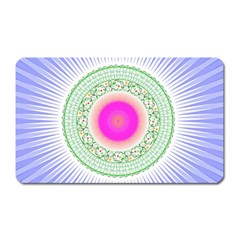 Flower Abstract Floral Magnet (rectangular) by Celenk