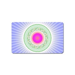 Flower Abstract Floral Magnet (name Card) by Celenk