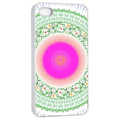 Flower Abstract Floral Apple Iphone 4/4s Seamless Case (white) by Celenk