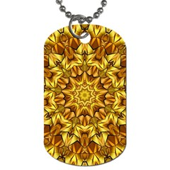 Abstract Antique Art Background Dog Tag (one Side) by Celenk