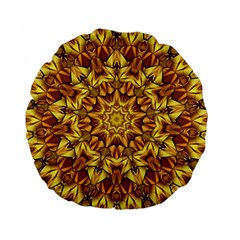 Abstract Antique Art Background Standard 15  Premium Flano Round Cushions by Celenk