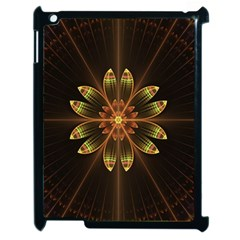 Fractal Floral Mandala Abstract Apple Ipad 2 Case (black) by Celenk