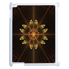 Fractal Floral Mandala Abstract Apple Ipad 2 Case (white) by Celenk