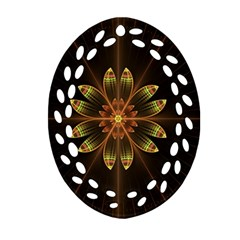 Fractal Floral Mandala Abstract Ornament (oval Filigree) by Celenk