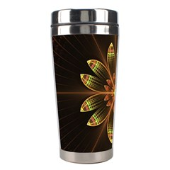 Fractal Floral Mandala Abstract Stainless Steel Travel Tumblers by Celenk