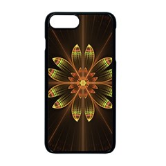 Fractal Floral Mandala Abstract Apple Iphone 8 Plus Seamless Case (black) by Celenk