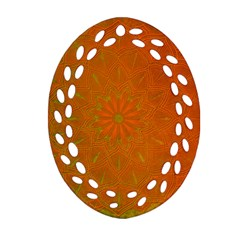 Background Paper Vintage Orange Ornament (oval Filigree) by Celenk