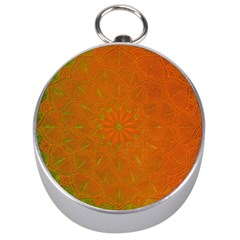 Background Paper Vintage Orange Silver Compasses by Celenk