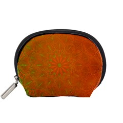 Background Paper Vintage Orange Accessory Pouches (small)  by Celenk