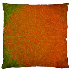 Background Paper Vintage Orange Large Flano Cushion Case (one Side) by Celenk