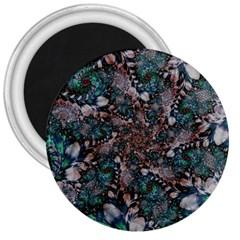 Art Artwork Fractal Digital Art 3  Magnets by Celenk