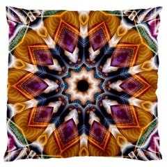 Kaleidoscope Pattern Kaleydograf Large Flano Cushion Case (two Sides) by Celenk