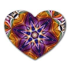 Kaleidoscope Pattern Kaleydograf Heart Mousepads by Celenk