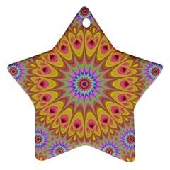 Geometric Flower Oriental Ornament Ornament (star) by Celenk