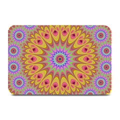 Geometric Flower Oriental Ornament Plate Mats by Celenk