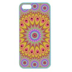 Geometric Flower Oriental Ornament Apple Seamless Iphone 5 Case (color) by Celenk