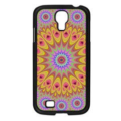Geometric Flower Oriental Ornament Samsung Galaxy S4 I9500/ I9505 Case (black) by Celenk