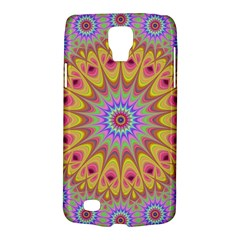 Geometric Flower Oriental Ornament Galaxy S4 Active by Celenk