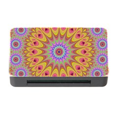 Geometric Flower Oriental Ornament Memory Card Reader With Cf by Celenk