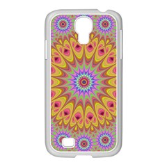 Geometric Flower Oriental Ornament Samsung Galaxy S4 I9500/ I9505 Case (white) by Celenk
