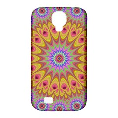 Geometric Flower Oriental Ornament Samsung Galaxy S4 Classic Hardshell Case (pc+silicone) by Celenk