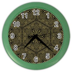 Texture Background Mandala Color Wall Clocks by Celenk