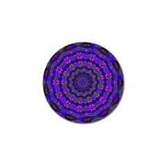 Purple Kaleidoscope Mandala Pattern Golf Ball Marker by Celenk