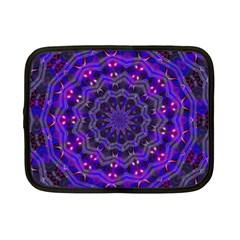 Purple Kaleidoscope Mandala Pattern Netbook Case (small)  by Celenk