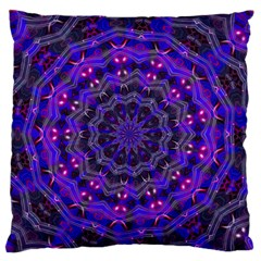 Purple Kaleidoscope Mandala Pattern Large Flano Cushion Case (two Sides) by Celenk