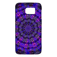Purple Kaleidoscope Mandala Pattern Galaxy S6 by Celenk