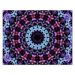 Kaleidoscope Shape Abstract Design Rectangular Jigsaw Puzzl by Celenk