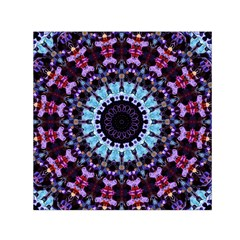 Kaleidoscope Shape Abstract Design Small Satin Scarf (square) by Celenk