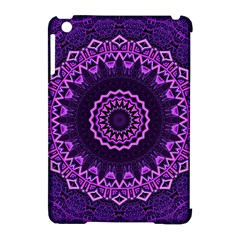 Mandala Purple Mandalas Balance Apple Ipad Mini Hardshell Case (compatible With Smart Cover) by Celenk