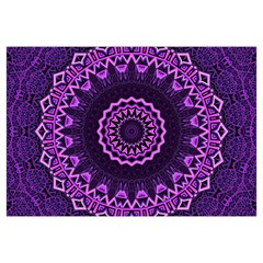 Mandala Purple Mandalas Balance Canvas Cosmetic Bag (large)