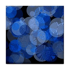 Circle Rings Abstract Optics Tile Coasters by Celenk