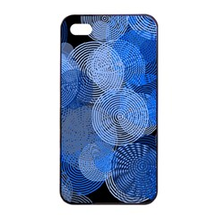 Circle Rings Abstract Optics Apple Iphone 4/4s Seamless Case (black) by Celenk