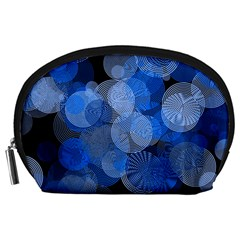 Circle Rings Abstract Optics Accessory Pouches (large)  by Celenk