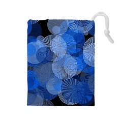 Circle Rings Abstract Optics Drawstring Pouches (large)  by Celenk