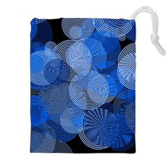 Circle Rings Abstract Optics Drawstring Pouches (xxl) by Celenk