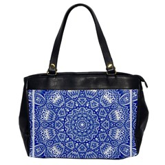 Blue Mandala Kaleidoscope Office Handbags by Celenk