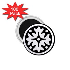Mandala Pattern Mystical 1 75  Magnets (100 Pack)  by Celenk
